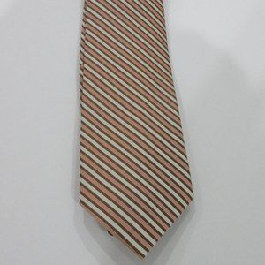 Claiborne Mens Rose, Brown and Cream Silk Tie